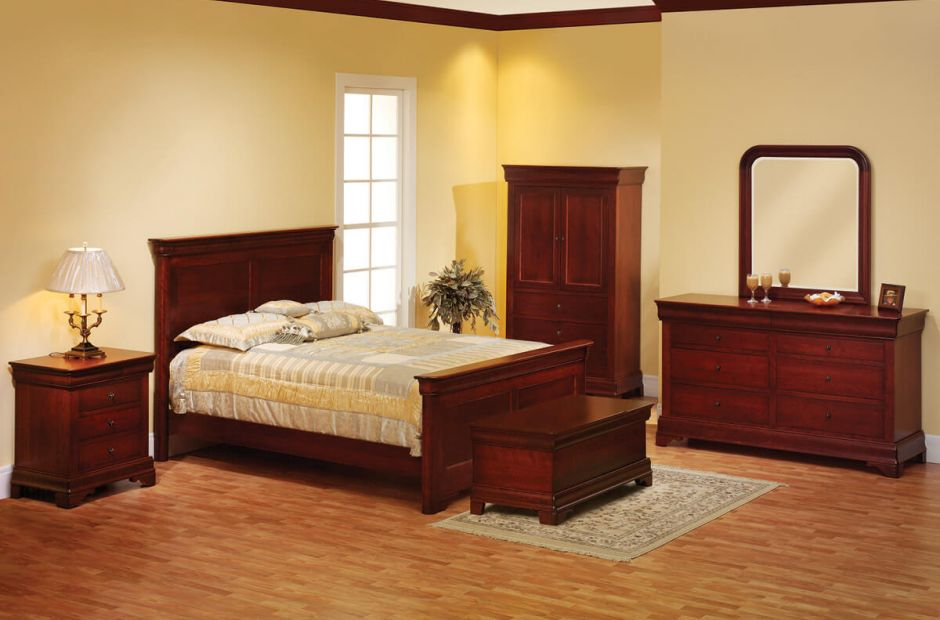 Charlemagne Cherry Bedroom Set Countryside Amish Furniture