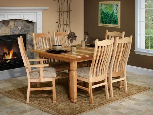 Sanibel Amish Hickory Dining Table