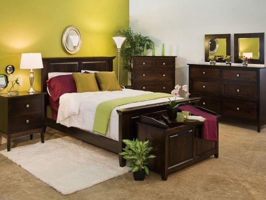 Naples Real Wood Panel Bed Countryside Amish Furniture