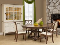 Solid wood dining room sets countryside amish furniture - Timelessly classic dining table designs long lasting beauty function ...