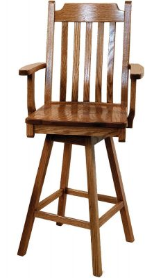 San Diego Swivel Bar Height Stool Countryside Amish Furniture